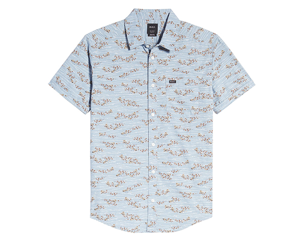 Camelia Hedge Floral Short Sleeve Button-Up Shirt