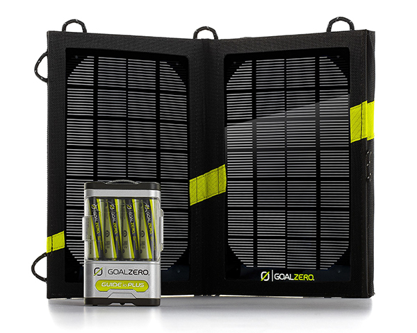 Goal Zero Guide 10 Plus Adventure Kit Solar Charger