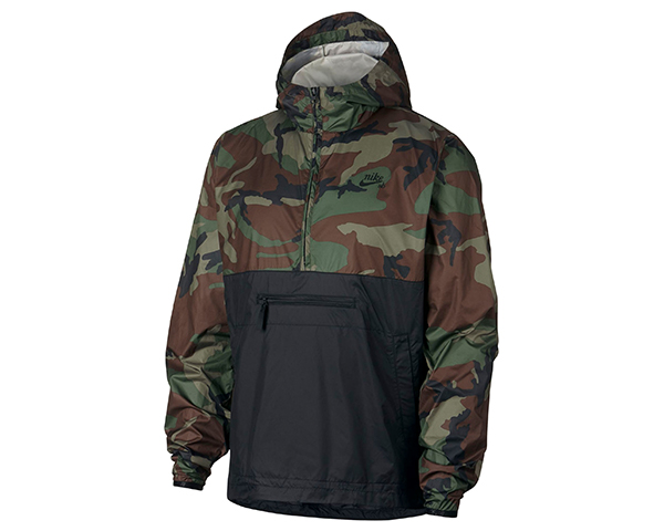 Nike-Camo Packable Hooded Anorak