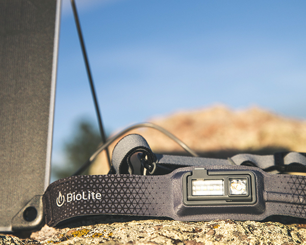 Biolite headlamp 330 on rock black