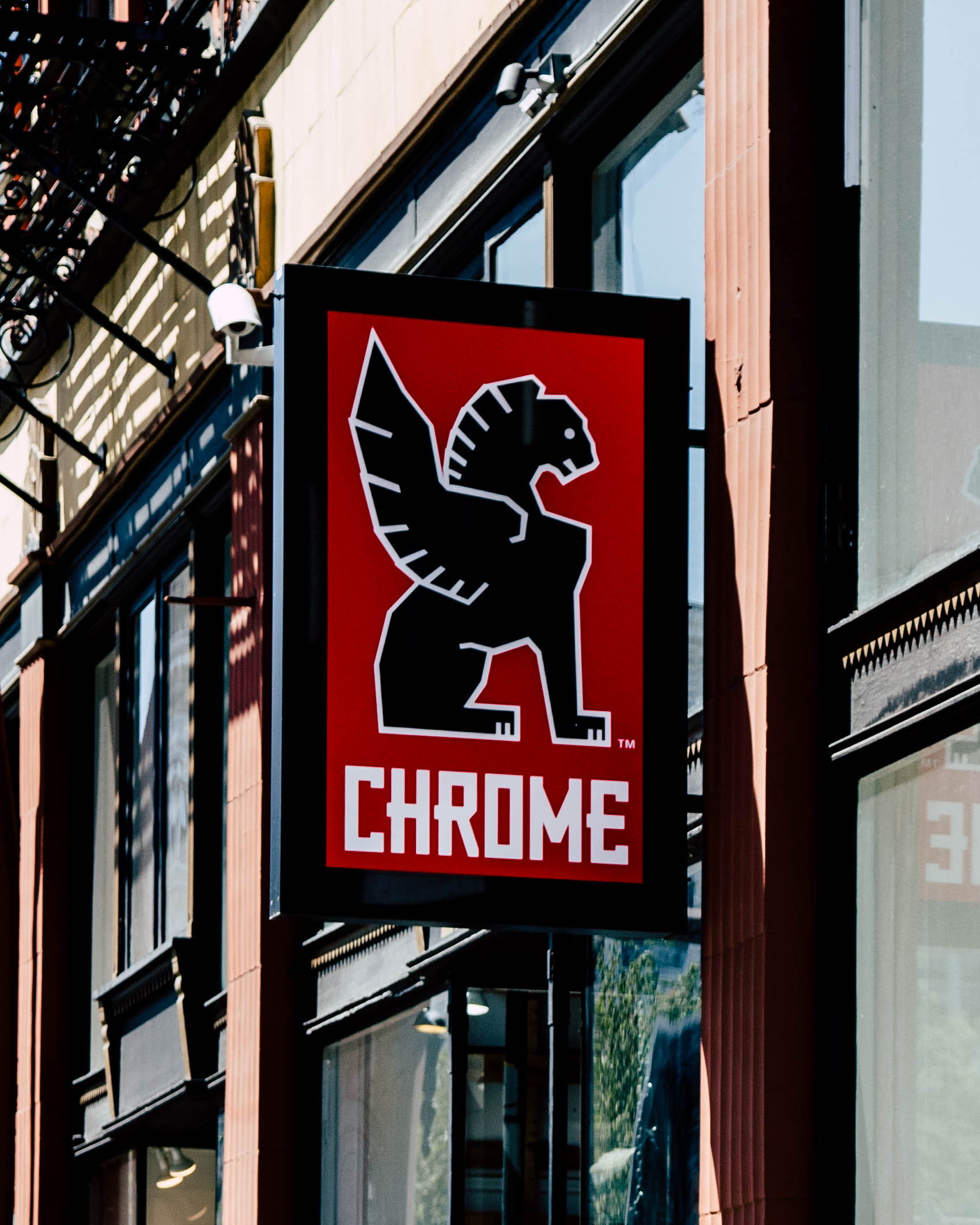 front of Chrome Industries Store sign