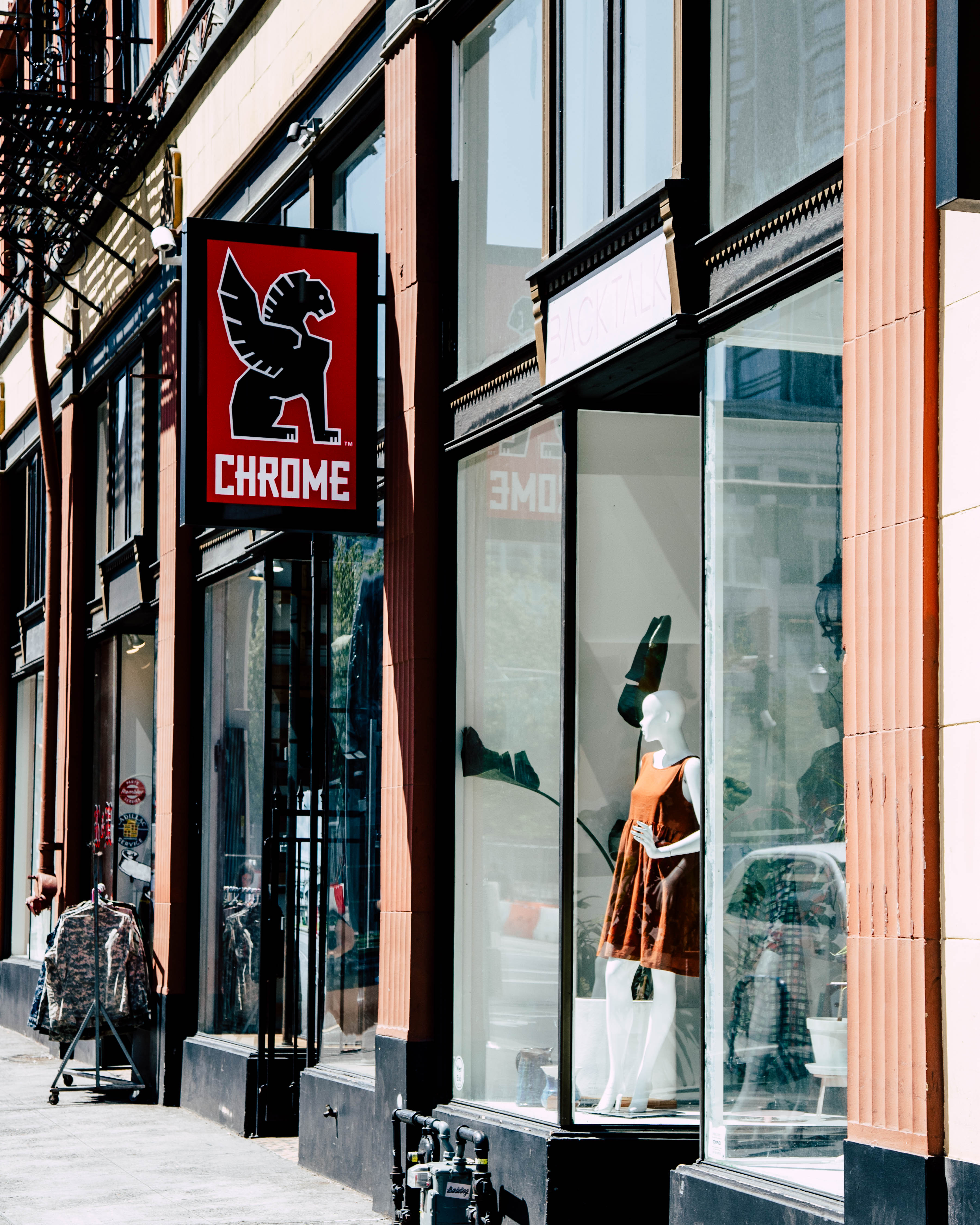 front of Chrome Industries Store
