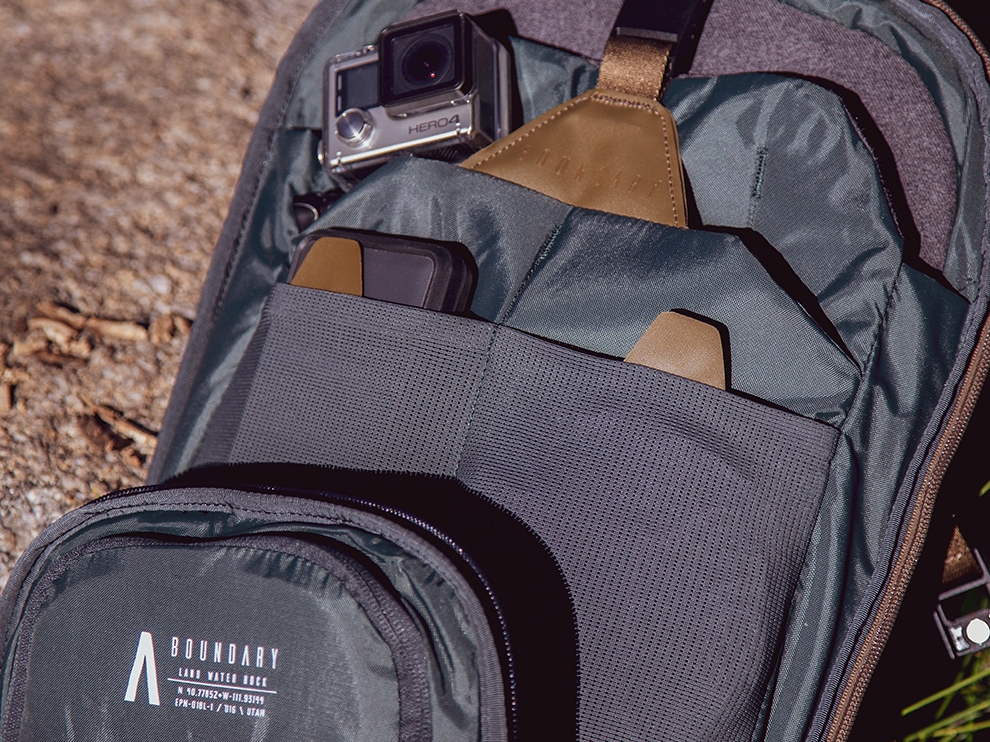 Boundary Supply Errant Pack inside with GoPro