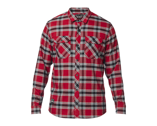 FOX RACING Fusion Tech Flannel Shirt - Men's on white background