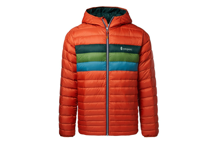 Fall hiking gear jacket Cotopaxi fuego jacket