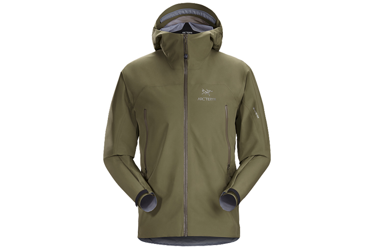 Fall hiking gear hardshell Arc'teryx Zeta LT Jacket