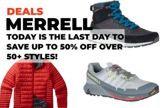 Merrell Deals: Today is the last day to save up to 50% off over 50+ styles.