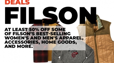 Filson Deals: At Least 50% Off